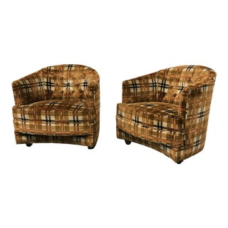 1960s Vintage Harvey Probber Tub Chairs- A Pair For Sale