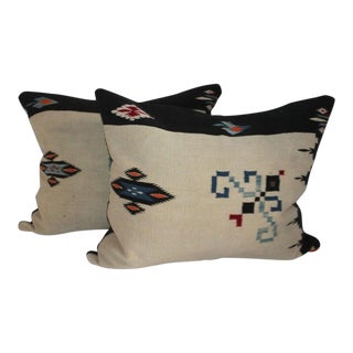 1920s Mexican Indian Weaving Pillows - a Pair For Sale