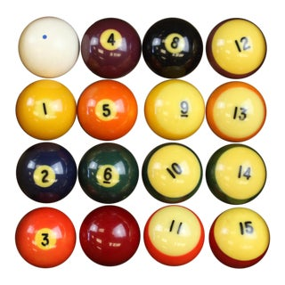 Boxed Billiard Balls - Set of 16