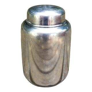 Anttique Wilcox Silverplate Tea Caddy For Sale