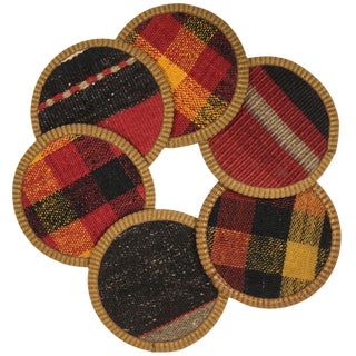 Kilim Coasters Set of 6 | Kızlarağası For Sale