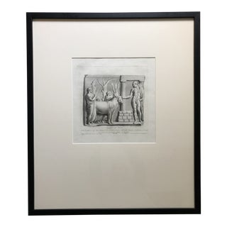 18th Century Engraving With Etching of the Sagrificio Ad Ercole For Sale