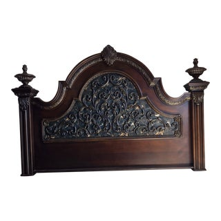 Traditional King Headboard Footboard & Sideboards For Sale