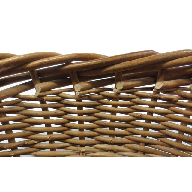 Giant Oversize Braided Willow Basket - Image 6 of 9