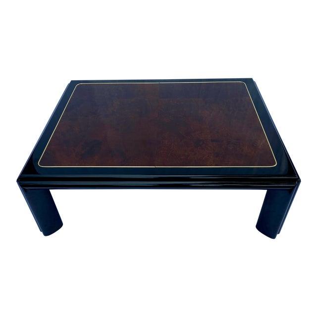 1970s Henredon Scene III Burl Coffee Table For Sale