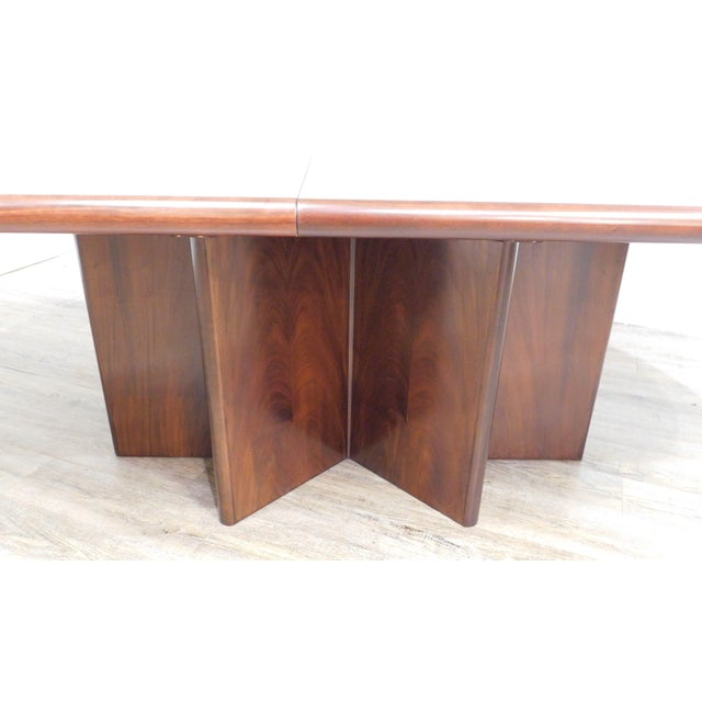 Danish Modern Oval Teak Expandable Dining Table by Ansagar Mobler For Sale In Philadelphia - Image 6 of 13