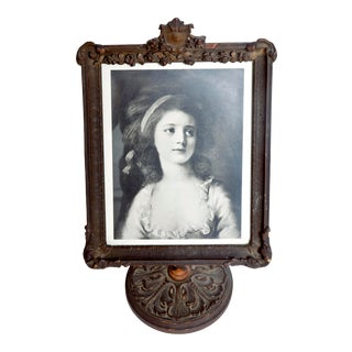 Antique Picture Frame with Original Photo For Sale