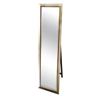 Chanel Bead Champagne Silver Cheval Full Length Mirror For Sale