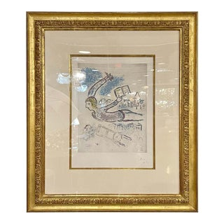Marc Chagall Etching Provenance on Reverse With Blind Stamp For Sale