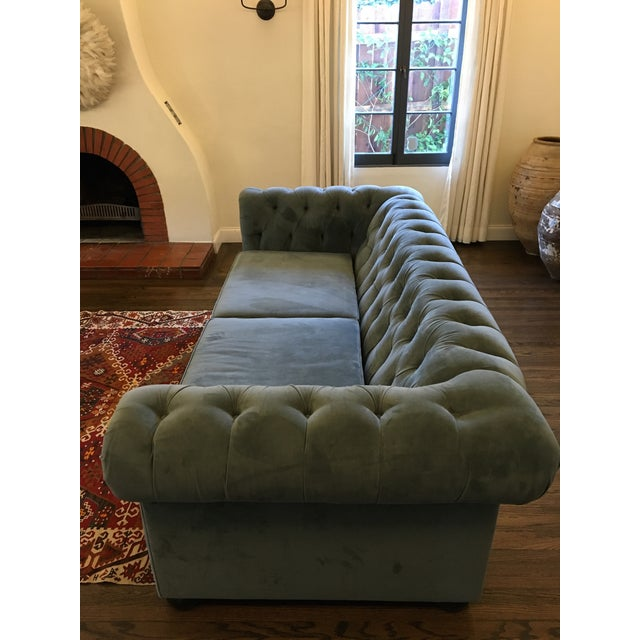Blue Chesterfield Sofas - A Pair - Image 3 of 8