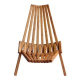 Image of Mid-Century Wood Folding Lounge Chair For Sale
