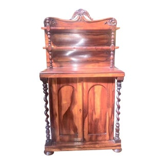 19th Century Diminutive Exotic Wood Cabinet For Sale