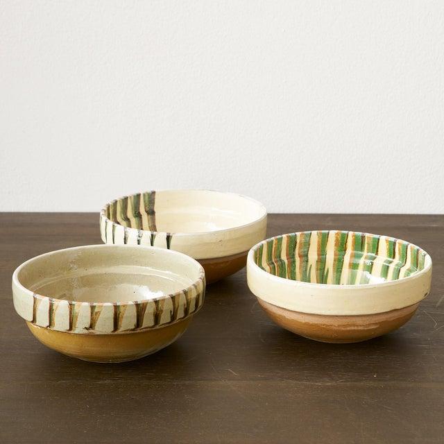 European Handglazed Bowls- Set of 3 For Sale - Image 4 of 5