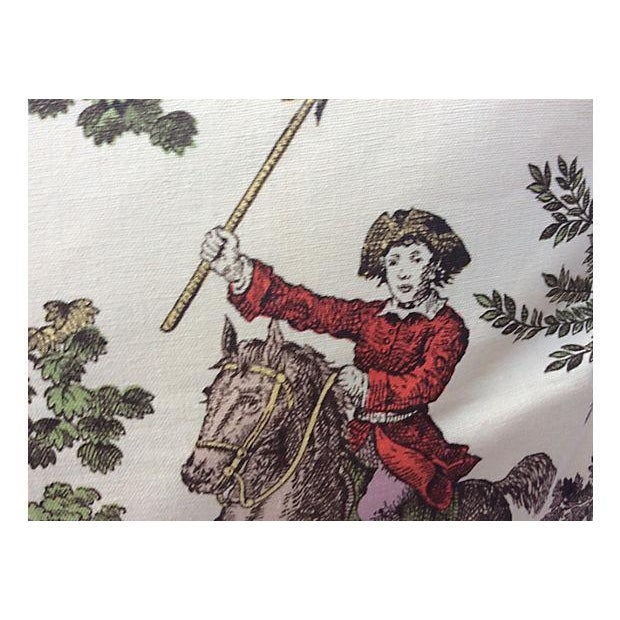 French French Toile Hunt Scene Pillows - A Pair For Sale - Image 3 of 5