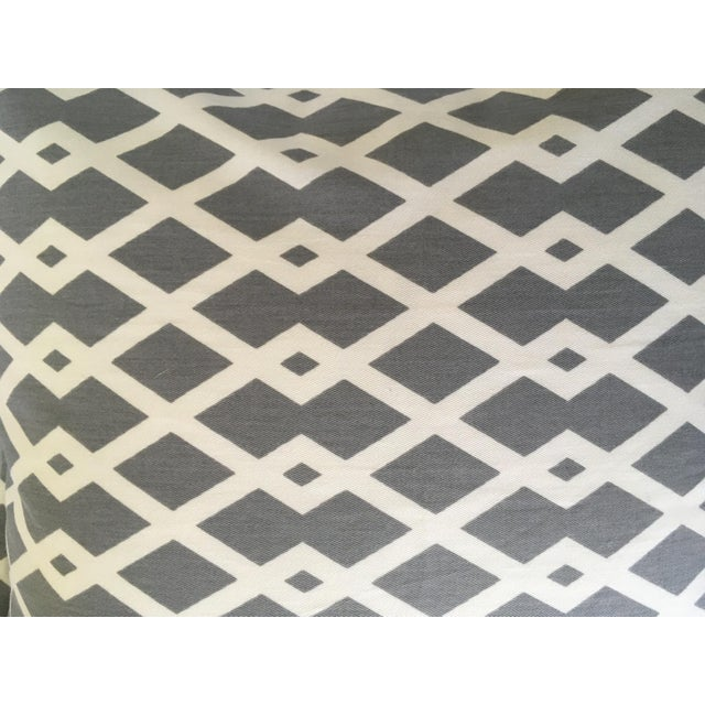2010s Gray Geometric Pillow Cases - A Pair For Sale - Image 5 of 8