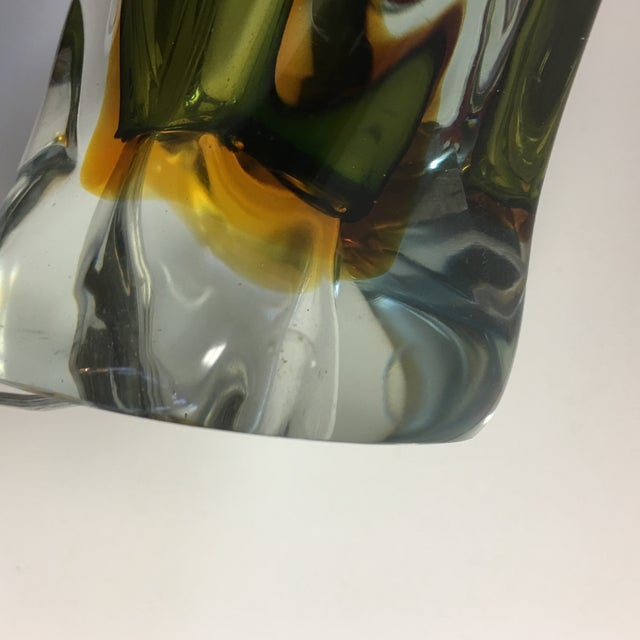 Murano Sommerso Mid Century Art Glass Lamph For Sale - Image 12 of 13