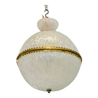 Large Murano Glass Sphere Chandelier by Barovier For Sale