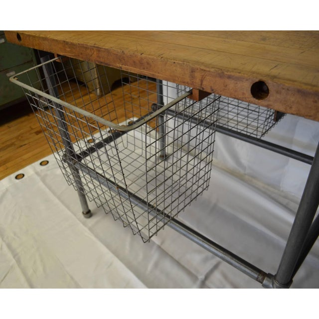 Maple Top Kitchen Island with Sliding Baskets - Image 6 of 9