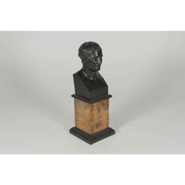 1900's Traditional Bronze Bust on a Marble Base For Sale - Image 10 of 10