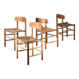 Set of 4 Borge Mogensen J39 Dining Chairs, Denmark For Sale