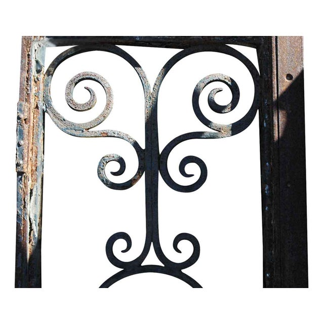 Wrought Iron Door Transom Window For Sale - Image 6 of 6