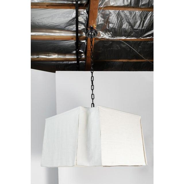 Paul Marra Modern Draped Linen Chandelier by Paul Marra For Sale - Image 4 of 9