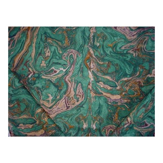 Marbalized Agate Print Drapery/ Upholstery Fabric - 5-5/8y For Sale