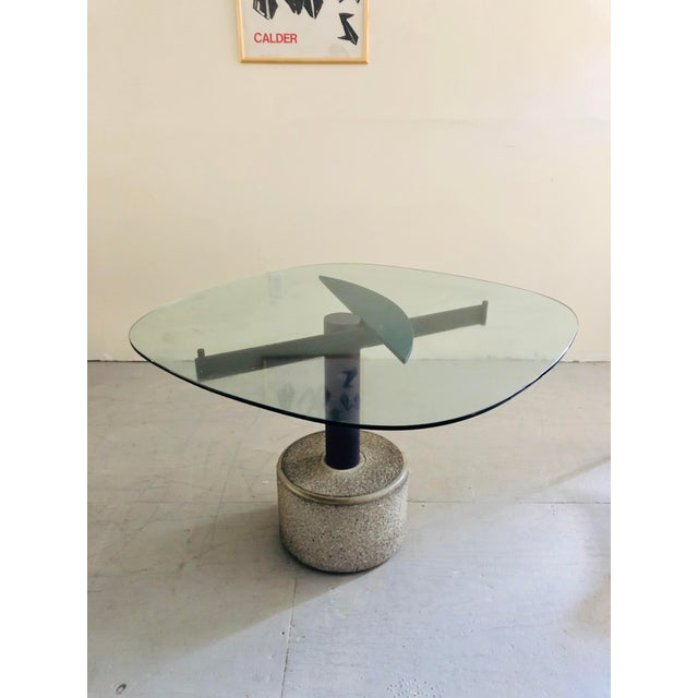 Vintage Italian Dining Table Designed by Giovanni Offredi for Saporiti For Sale In New York - Image 6 of 6