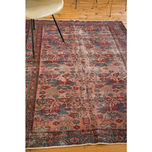 "Distressed Antique Lilihan Rug - 4'3"" X 6'5"" - Image 5 of 8"