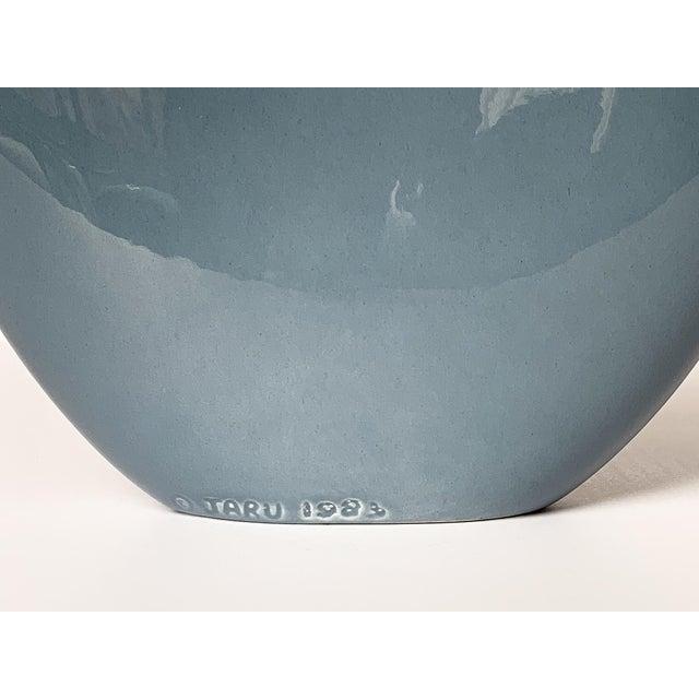 Jaru Blue and Gold Sculptural Ceramic Vase For Sale - Image 10 of 13
