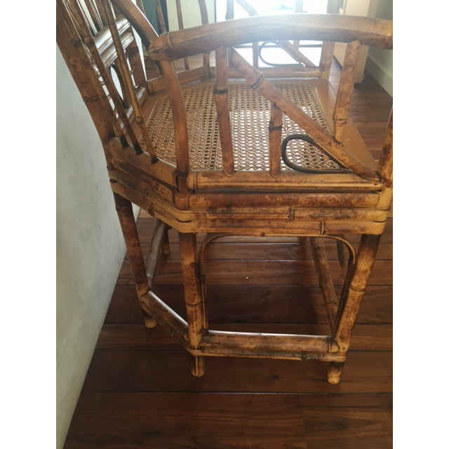Brown Vintage Bamboo Chinoiserie Accent Chair For Sale - Image 8 of 11