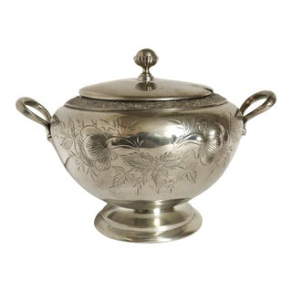 Antique Silver Tureen For Sale