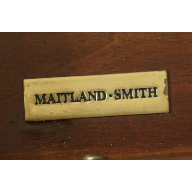 Maitland Smith Satinwood Adam Style Vanity Table For Sale - Image 10 of 12