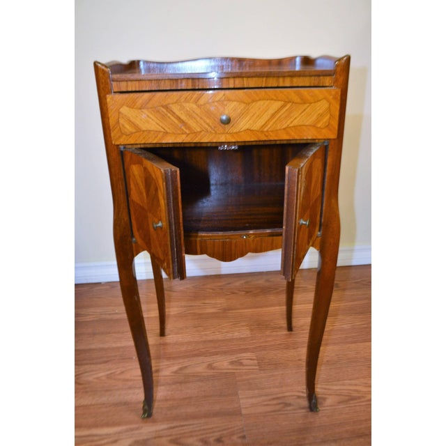 Animal Skin Transitional Inlay Wood Side Tables - A Pair For Sale - Image 7 of 10