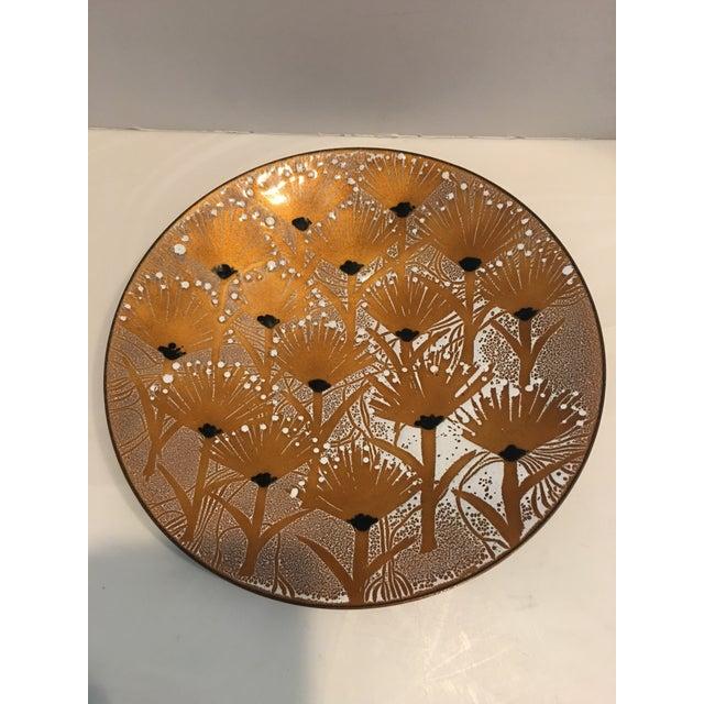 Mid-Century Modern Francoise Desrochers-Drolet Enameled Plate For Sale - Image 3 of 5
