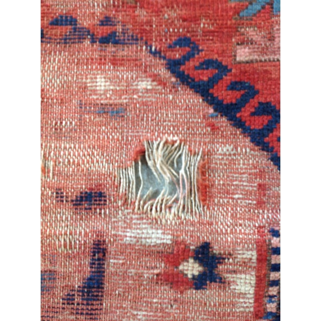 Antique Persian Red & Blue Rug For Sale - Image 4 of 5