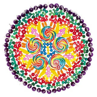 "Paula Brett ""Whirly Pop Mandala"" Candy Limited Edition Photograph For Sale"