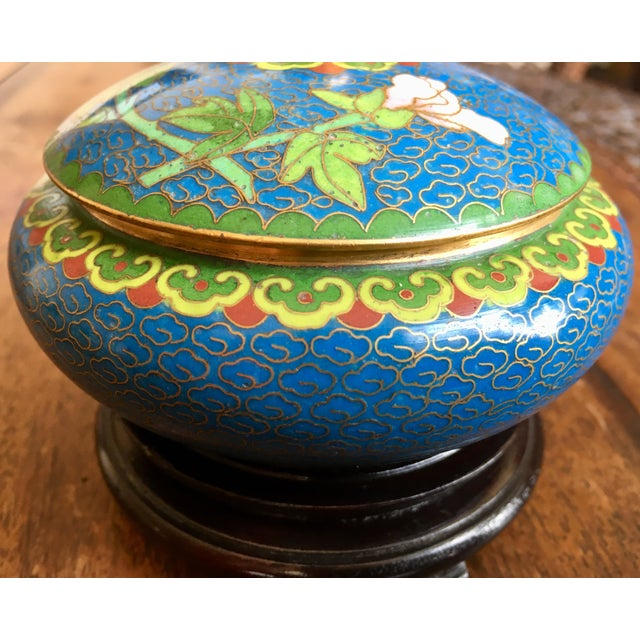 1970s Chinese Cloisonne Trinket Box For Sale - Image 10 of 13