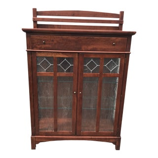 Arts & Crafts Bob Timberlake Cherry China/Curio Cabinet For Sale
