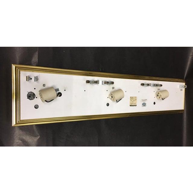 1980s Vintage Lightolier Alabaster and Brass Wall Light For Sale - Image 5 of 7