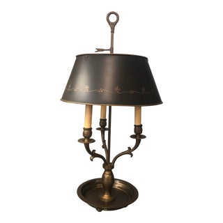 French Bronze Bouillotte Lamp For Sale
