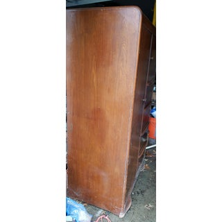 20th Century Art Deco Waterfall Design Wooden Wardrobe/Armoire Preview