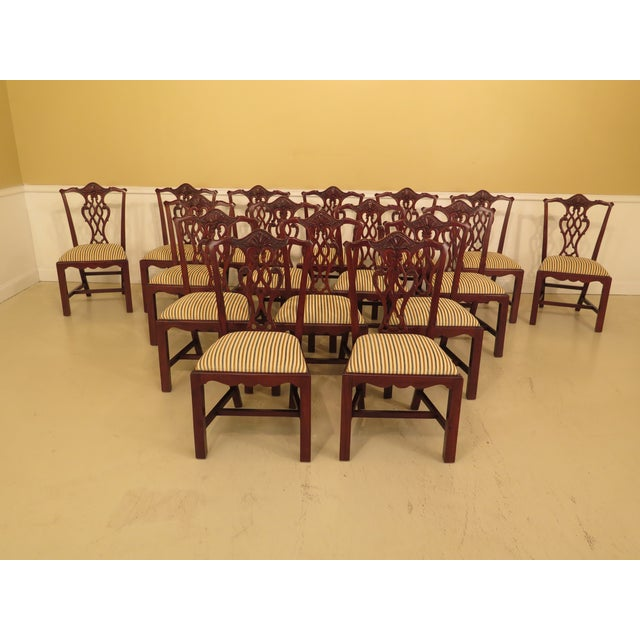 Chippendale Carved Mahogany Dining Room Side Chairs - Set of 16 - Image 13 of 13