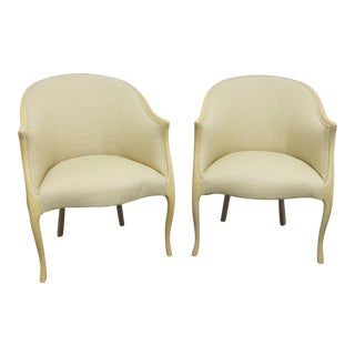 Mid Century Style Blonde Lounge Chairs- a Pair For Sale
