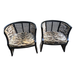 Designer Animal Print Chairs - A Pair For Sale