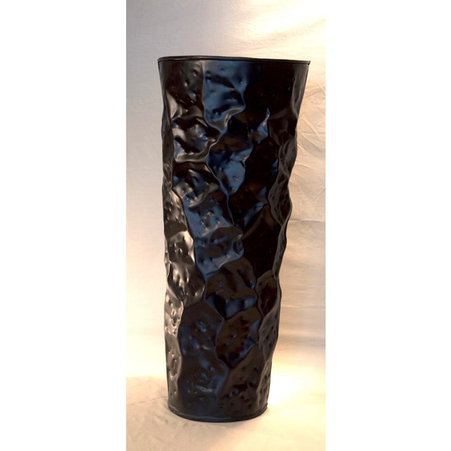 Small Black Matte Chisel Planter For Sale - Image 4 of 4