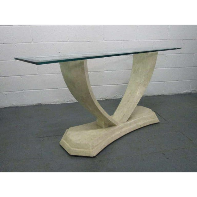 Maitland - Smith Maitland Smith Tessellated Console Table For Sale - Image 4 of 8