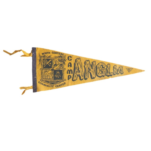 Americana Vintage Camp Anglia Felt Flag Pennant For Sale - Image 3 of 3