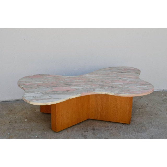 Contemporary Flowing Free-Form Marble 1970s Coffee Table For Sale - Image 3 of 5