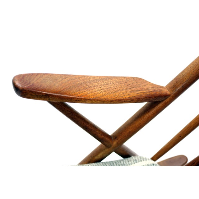 Vintage Frank Reenskaug for Bramin Mobler Danish Teak Rocking Chair For Sale - Image 9 of 12